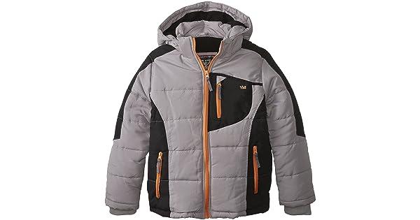 8 YMI Boys Big Boys Color-Block Bubble Jacket with Detachable Hood Grey 8 YMI Boys 8-20 BOYSJACKET1358G