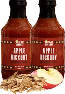Green Jay Gourmet BBQ Sauce - Apple Hickory - All-Natural Barbecue Sauce with Apples, Gourmet Spices, Tomato Paste & More - Gourmet Barbecue Spread for Meats, Veggies & Other Foods - 2 x19 Ounces