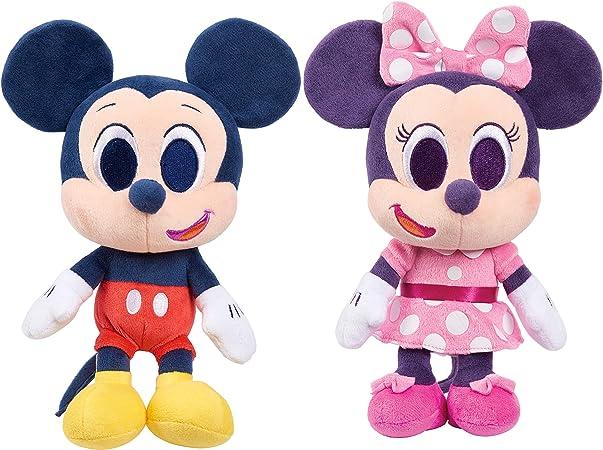 Amazon Com Just Play Juego De 2 Muñecos De Peluche De Mickey Mouse Y Minnie Mouse De 9 Pulgadas 2 Piezas De Disney Junior Music Lullabies Para Niños De 3 Años En