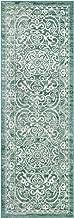 Maples Rugs Pelham Vintage Runner Rug Non Slip Hallway Entry Carpet [Made in USA], 2 x 6, Light Spa