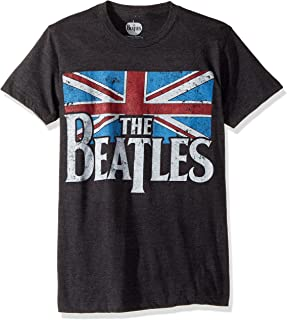 Men's Beatles Distressed British Flag T-shirt, Grey