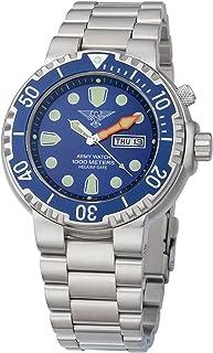 EP845 - Reloj para Hombres, Correa de Acero Inoxidable Color Plateado