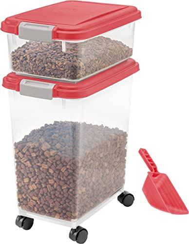 discount IRIS USA 3-Piece Airtight Food Storage Container Combo discount with Scoop for pet, outlet online sale dog, cat and bird food outlet sale