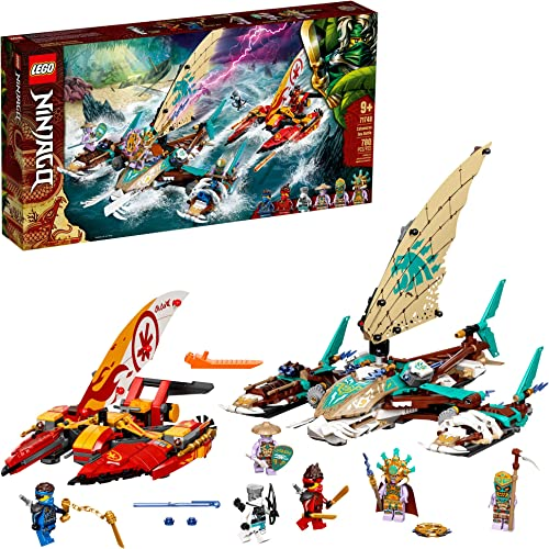 lowest LEGO NINJAGO Catamaran Sea Battle 71748 Building discount Kit; Ninja Playset Featuring Catamaran Toys and NINJAGO Kai, Jay and Zane; Best Gift for Kids discount Who Love Creative Play, New 2021 (780 Pieces) outlet sale