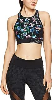Calvin Klein Women's Floral Print Logo Sports Bra