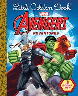 Little Golden Book Avengers Adventures (Marvel)