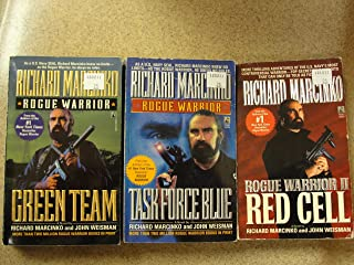 Lot of 3 Rogue Warrior Paperback Books by Richard Marcinko and John Weisman: Task Force Blue, Red Cell and Green Team