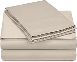 Pinzon 500-Thread-Count Pima Cotton Sateen Bed Sheet Set - Queen, Canvas