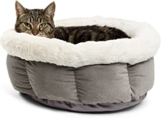 Best Friends by Sheri Cuddle Cup Ilan Cozy Microfiber Cat and Dog Bed in Grey (Cup-ILN-Gry)