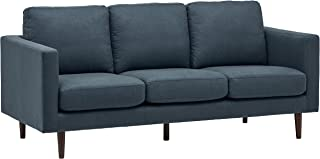 "Amazon Brand � Rivet Revolve Modern Upholstered Sofa Couch, 80""W, Denim Blue"