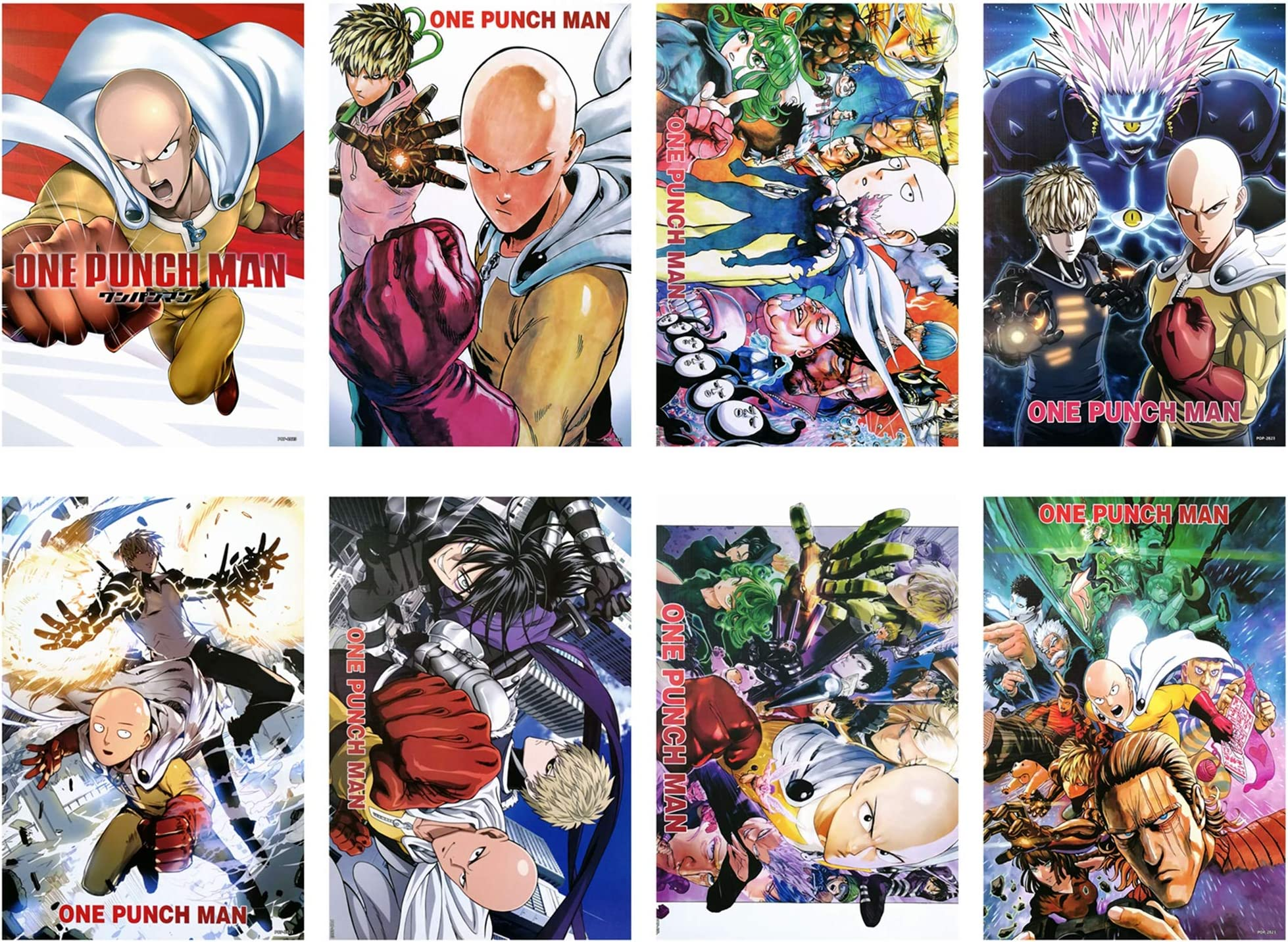 One Punch Man Anime Manga Large Poster Art Print Gift A0 A1 A2 A3 A4 Maxi