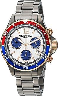 ساعة اوشينت كوارتز مع حزام من الستانليس ستيل، لون رمادي 20 (OC0535)