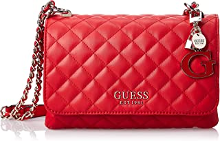 Guess Womens Cross-Body Handbag, Red - VG766721