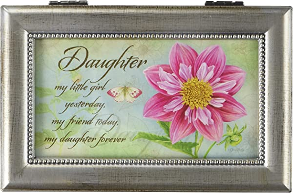 Carson Home Accents 18283 Daughter Jane Shaky Music Box 6 Inch By 4 Inch By 2 1 2 Inch