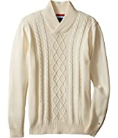 Tommy Hilfiger Kids - Sam Shawl Cable Sweater (Big Kids)