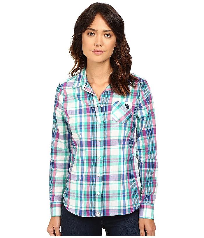 U.S. POLO ASSN. Plaid Poplin Single Pocket Shirt
