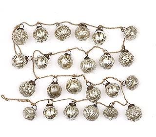 silver ball ornament garland