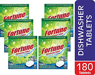 FORTUNE Dishwasher Tablets, 5 in 1 Action, Fresh Scent, 180 Count (180.00)