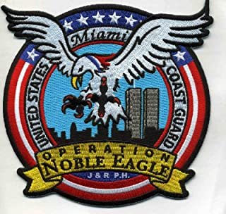 Embroidered Patch - Patches for Women Man - USCG Coast Guard Patch - Operation Noble Eagle, Miami, FL