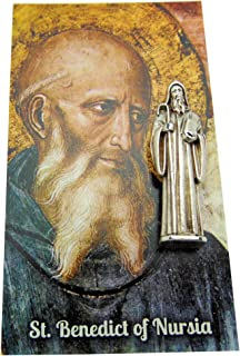 Westman Works St Benedict Protection from Evil Prayer Kit with Pocket Saint Statue and Holy Card