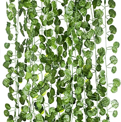 Artificial Hanging Plant Leaf Fake Foliage Ivy Vine Garland Leaves Home Decor