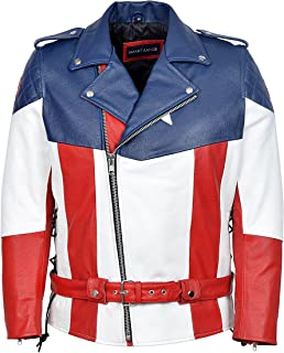 The First Avenger Hot Version Captain America Real Cow Hide Leather Jacket