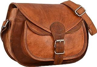 Gusti Shoulder Bag Leather -Evelyn- Ladies Handbag Crossbody Bag Brown small