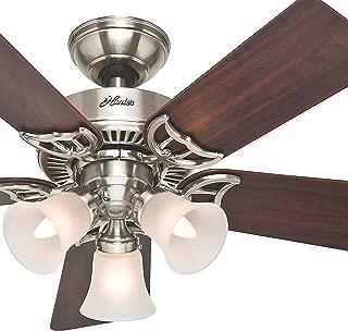 Hunter Fan 42 inch Ceiling Fan with Light in Brushed Nickel, 5 Blades (Renewed)