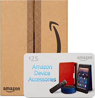 Amazon.com $25 Gift Card in a Mini Amazon Shipping Box (Device Accessories Design)