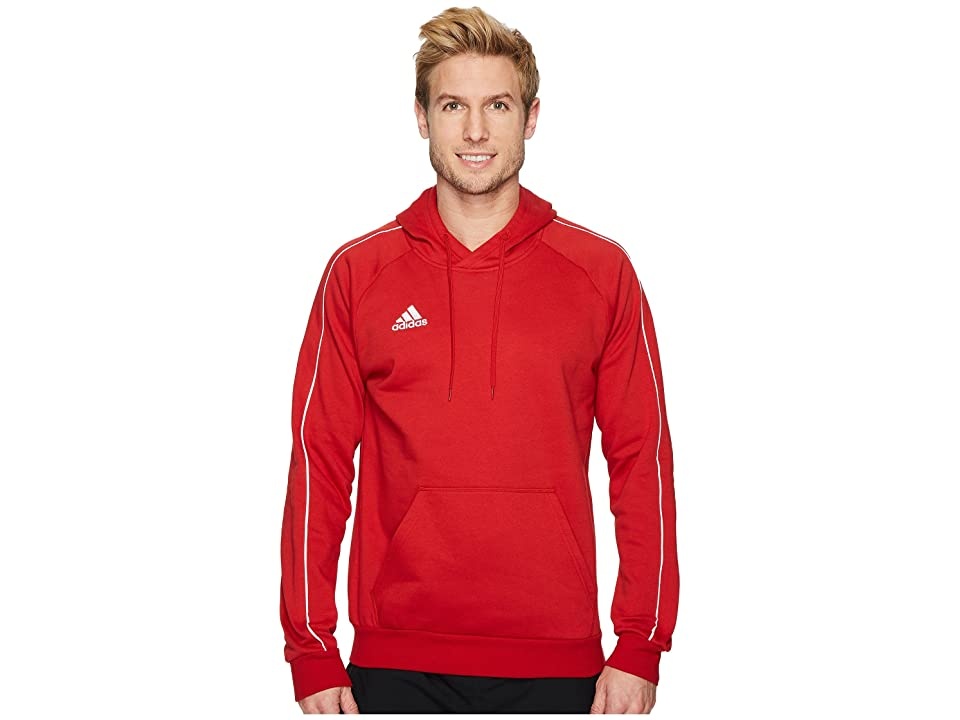 adidas Core18 Hoodie (Power Red/White) Men