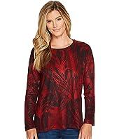 Nally & Millie - Crimson Print Long Sleeve Top