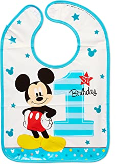 Amscan Disney Mickey Mouse 1st Birthday Bib