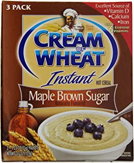 Cream of Wheat Instant Maple Brown Sugar 3 Pack (3 boxes)