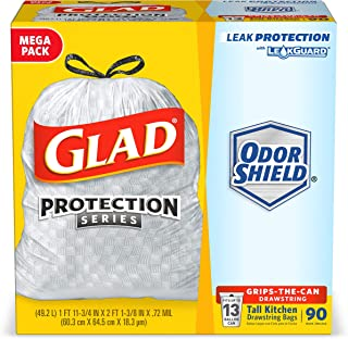 Glad Tall Kitchen Trash Bags, 13 Gal, 90 Ct