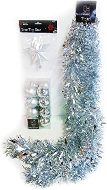 Homestreet Cimier de sapin de Noël en forme d'étoile de 14 cm, fil métallique pailleté (or rose)