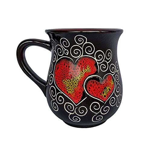 Handmade Coffee Pottery Mugs With Love Unique Birthday Gift For Mom Dad Women Men Him Her