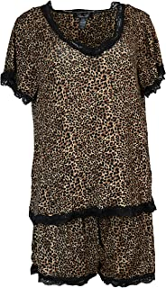 Women's Plus Size Pajama Set, Short Sleeves Shorts