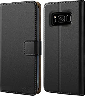 HOOMIL Compatible with Galaxy S8 Plus Case, Premium Leather Flip Wallet Phone Case for Samsung Galaxy S8+ / S8 Plus Cover (Black)