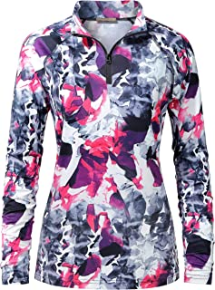 Sponsored Ad - Cestyle Womens UPF 50+ Long Sleeve 1/4 Zip Lightweight Pullover Outdoor Hiking Workout Tops