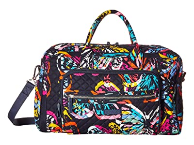Vera Bradley Iconic Compact Weekender Travel Bag (Butterfly Flutter) Weekender/Overnight Luggage