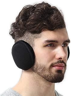 Tough Headwear Ear Muffs for Men & Women - Winter Ear Warmers/Covers for Cold Weather - Behind The Head Style Black Fleece Earmuffs