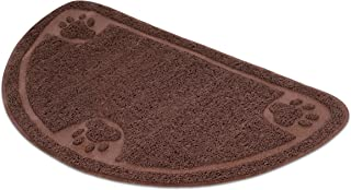 Internet's Best Cat Litter Mat - 23 x 14.5 - Semi-Circle - Kitty Litter Mat and Trap - Crystal Catcher Mat and Scatter Control - Soft Paw Touch
