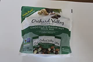Orchard Valley Harvest Snack Packs - Chocolate Raisin Nut Mix - 15 Ct. Mix Multi Pack Trail Mix, Mixed Nuts, Non-GMO Project Verified, No Artificial Ingredients,15 ounces (15 Individual Packs)
