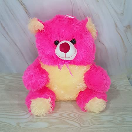 Kiddie Toys Animal Kingdom Teddy Bears Soft Toys Made in India (Pink, 45 cm)