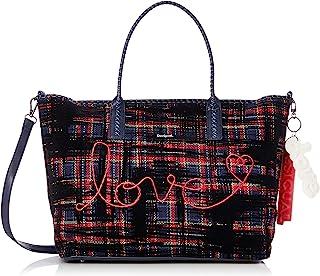Desigual 19WAXA85 Inlove Holbox Shopping Bag für Damen, mehrfarbig, Rot