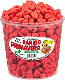 Haribo Small Primavera Strawberries, 1150 gram Tub