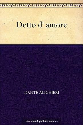 Detto d' amore (Italian Edition)