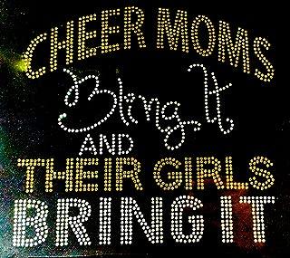 cheer mom iron on bling