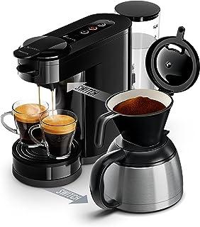 Senseo HD6592/61 - Cafetera (Independiente, Cafetera de filtro, 1 L, Dosis de café, De café molido, 1450 W, Negro, Acero inoxidable)
