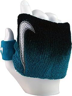 Nike Swoosh - Muñequera ajustable, color azul y negro